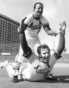 Joe Torre and Stan Musial