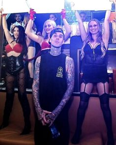 Saturday night, Oct 11, 2014, following Blink-182's nearby headlining set, drummer Travis Barker hosted a rocking concert after-party at Hyde Bellagio (Photo credit: Hyde Bellagio).