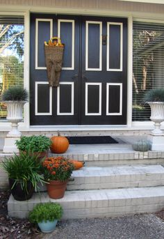painted front doors - multi color
