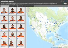 @SuperBowl2014 Rosters - see where all the players were born. #Esri #storymap