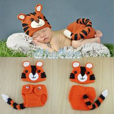 New 2014 Animal Model Kids accessories Handmade Tiger style Baby Hat and Shorts Newborn photography props Tiger Costume H108-in Hats & Caps from Apparel & Accessories on Aliexpress.com