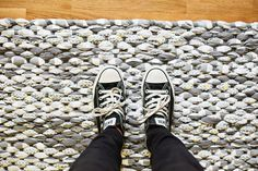 diy rug made from sheets