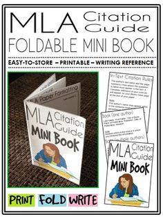 This mini-book is a great addition to any English Language Arts classroom, and suitable for a variety of levels. Students no longer have an excuse for misplacing their notes, or not knowing how to properly format a Works Cited page!
