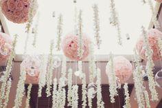 pink pomanders | Annabella Charles #wedding