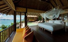 Ocean Panorama Pool Villa Bedroom at Six Senses Yao Noi, Thailand