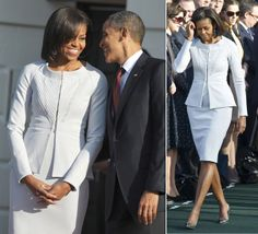 Michelle Obama's 50th Birthday: 15 Best Looks Ever | Visual Therapy | Michelle Obama in Zac Posen