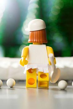 Lady LEGO Tennis Pro #tennis