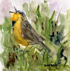 Beautiful meadow lark by Sandra Merwin.