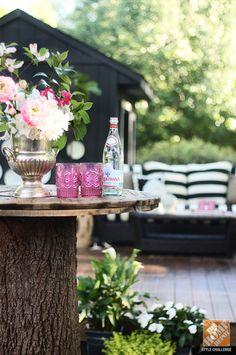 DIY: Tree stump turned backyard table