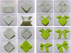 Bow origami instructions from sjrenoir.com