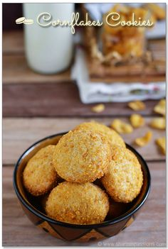 Eggless Cornflakes Cookies Recipe
