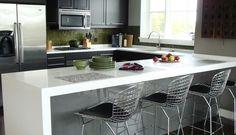 White Kitchen Counte