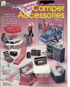Fashion Doll Dream Camper and Fashion Doll Camper Accessories Two Plastic Canvas Books. $35.00, via Etsy.