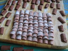 Miniature curved roof tiles