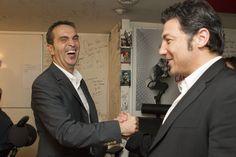 La magie des All Blacks : Moment de complicité entre Laurent Bellet, journaliste et son invité Byron Kelleher.