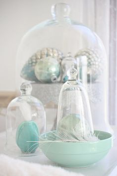 {Coastal Christmas Ideas} Aqua Christmas Touches | Beach House Beach House