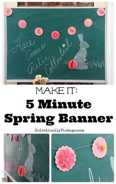 banner idea, spring banner