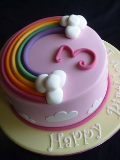 I'd like to try something like this for Hannah's 3rd. Maybe with rainbow layers too!