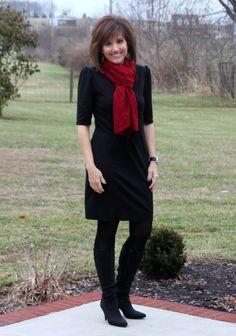 Christmas Holiday Fashion-Traditional Red/#fashionover40
