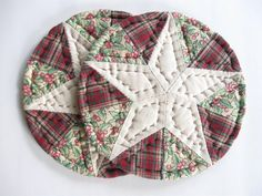 Quilted Coasters Christmas Decor Holiday Table Decor