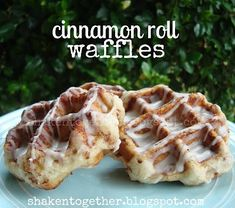 shaken together: try this cinnamon roll waffles