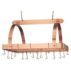 Hanging Pot Rack in Copper.