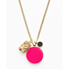 Ann Taylor Enamel Pendant Necklace ❤ liked on Polyvore