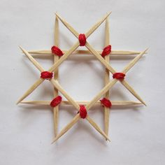 Wooden star ornament for Christmas