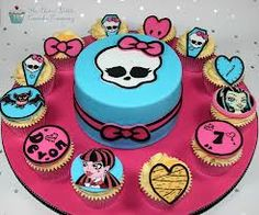 torta y cupcakes de monster high