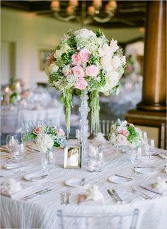 fancy country club reception decor for elegant wedding #weddingreception #weddingflorals #weddingchicks http://www.weddingchicks.com/2014/03/11/newport-beach-glittery-pink-wedding/