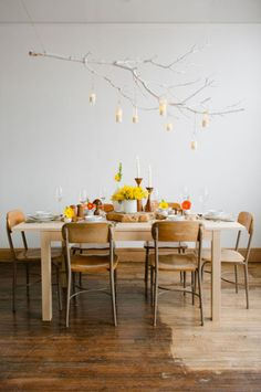 kitchen chairs, tree branches