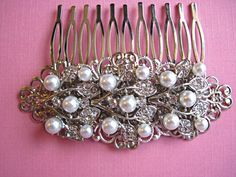 Wedding Hair Comb-Pearl Hair Comb