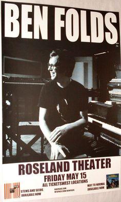 Ben Folds Poster Concert $9.84 #