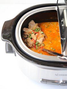 Slow Cooker Thai Chicken Soup   FoodieCrush.com