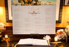 escort card ideas - seating chart (by seating chart boutique, photo by melissa robotti via emmaline bride)