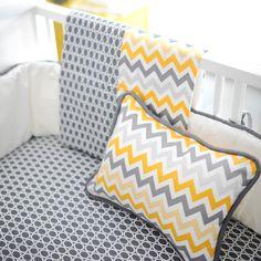 Mellow Yellow Chevron Baby Blanket
