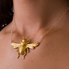 Bee Necklace | gold spray paint a plastic toy