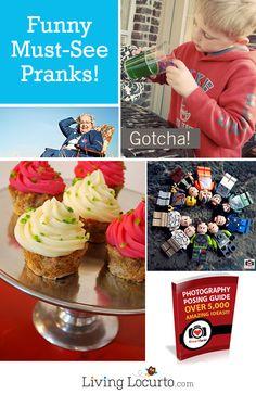 Love these Funny Pranks and April Fools Jokes! LivingLocurto.com