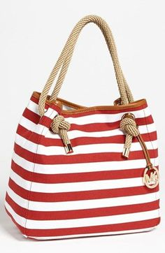 Kinda loving this tote for spring/sumer time! MICHAEL Michael Kors 'Marina - Large' Tote   Nordstrom