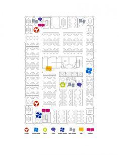 zoned floor plan in eBay offices