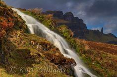 The Bride's Veil waterfall near the Storr, Trotternish, Isle of Skye