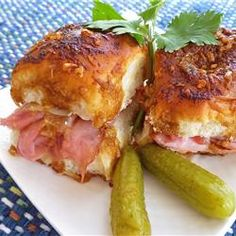 Sassy Tailgate Sandwiches - tasty little hot sandwiches, great finger food for a party.