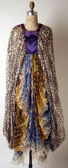 Evening dress  Zandra Rhodes  (British, born 1940)  Date: ca. 1973 Culture: British Medium: wool