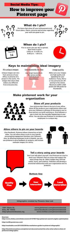 How to Improve Your #Pinterest Page - #Infographic