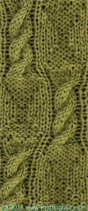 Fancy Cable Check - Knittingfool Stitch Detail