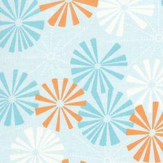 Pinwheel Blue Fabric By The Yard : All Fabrics At Poshtots