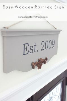Easy Wooden Painted Sign + Silhouette Promo   So Much Better With Age