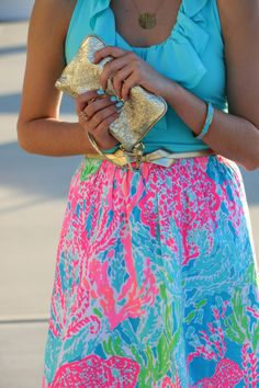 Bright floral patterns are a must for spring and summer!