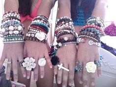 fashion, arm party, cloth, style, bracelets
