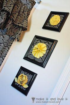 frame, fabric, flower.